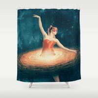 nasa Shower Curtains featuring Prima Ballerina Assoluta by Paula Belle Flores