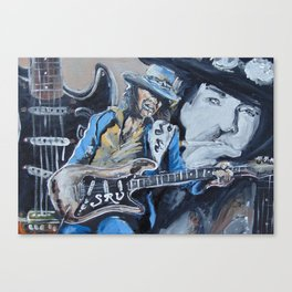 Stevie Ray Vaughn tribute Canvas Print