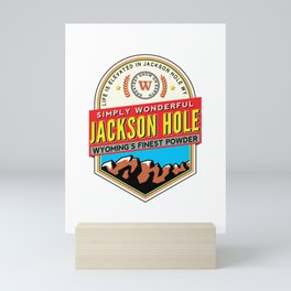 Skiing Jackson Hole Wyoming Mini Art Print