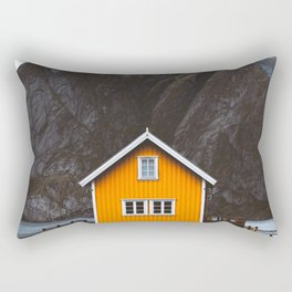 Yellow Cabin Rectangular Pillow