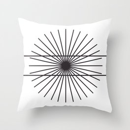 Optical illusion gift math geometry school Throw Pillow