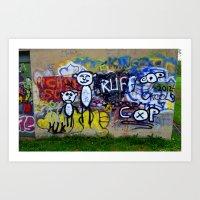 grafitti Art Prints featuring Grafitti by LoRo  Art & Pictures