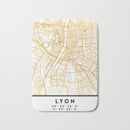 LYON FRANCE CITY STREET MAP ART Bath Mat