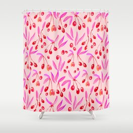 Pop Olives Season Design  // Watercolour Collection // Pattern Shower Curtain