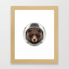 Space Bear Framed Art Print