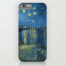 Van Gogh, Starry Night Over The Rhone Artwork Reproduction, Posters, Tshirts, Prints, Bags, Men, Wom iPhone Case