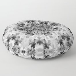 Black and white Persian carpet 1 Floor Pillow