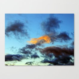 Fishy Cloud Glows in the Sky Canvas Print