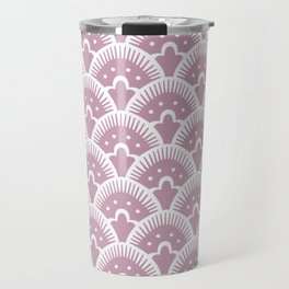 Fan Pattern 431 Dusty Rose Travel Mug