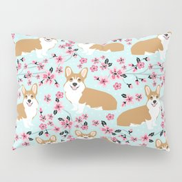 Corgi cherry blossom florals dog must have cute welsh corgis gifts pure breed Pillow Sham