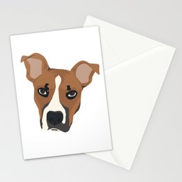 Pitbull Puppy Love Stationery Cards