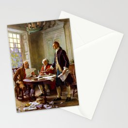 Writing The Declaration of Independence Stationery Cards