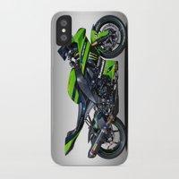 motorbike iPhone & iPod Cases featuring Kawasaki Motorbike by cjsphotos