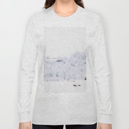 Cabin in the Snow (Color) Long Sleeve T-shirt