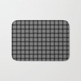 Small Gray Weave Bath Mat