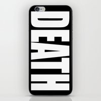 death star iPhone & iPod Skins featuring Death by Sinister Star