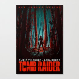 Her Legend Begins - Tomb Raider Artwork Canvas Print