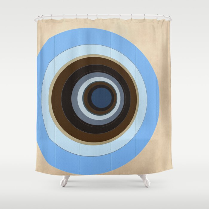 blue and brown circles Shower Curtain by christinebssler   Society6