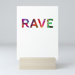 Rave Festival Techno Hardstyle Party Mini Art Print