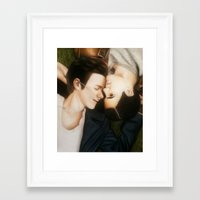 klaine Framed Art Prints featuring Klaine The Fault in Our Stars by weepingwillow