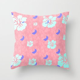 Tropical Pattern Pink Throw Pillow