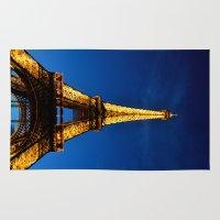 eiffel Area & Throw Rugs featuring Eiffel by Heather Hartley