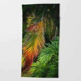 Palm Glow Beach Towel