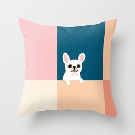 Little_French_Bulldog_Love_Minimalism_001 Throw Pillow
