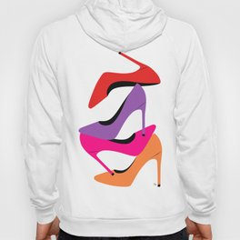 Colorful high heel shoes graphic illustration Hoody