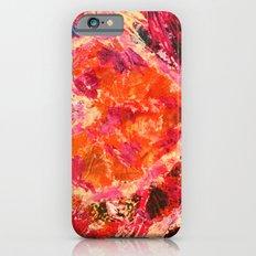 MEND ME - Broken Heart Abstract Artwork Bright Bold Crimson Red Magenta Black Leopard Print Slim Case iPhone 6s