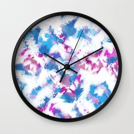 Abstraction . Colorful brush strokes. Wall Clock