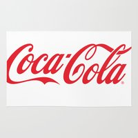 coca cola Area & Throw Rugs featuring Coca Cola by ZenthDesigns