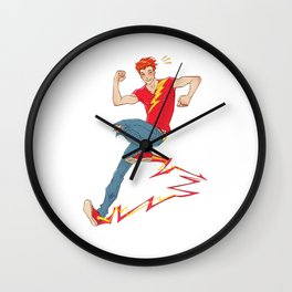 Electric sneakers Wall Clock