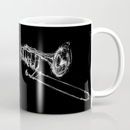Black Trombone Coffee Mug