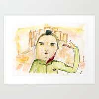 taxi driver Art Prints featuring Taxi Driver by Wakkala