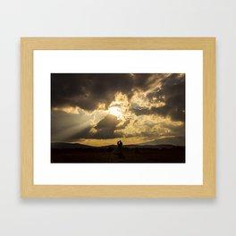Backlit Boyfriends (Contraluz de Novios) Framed Art Print