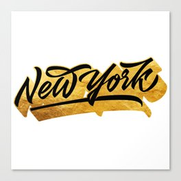 New York Black and Gold awesome lettering Canvas Print