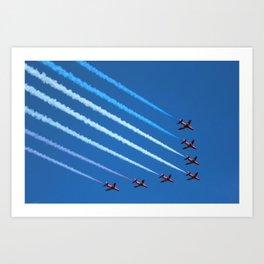 Red Arrows display Art Print