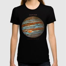 Jupiter MEDIUM Womens Fitted Tee Black