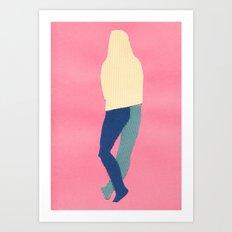 Nude female model. Sketch 4. Art Print