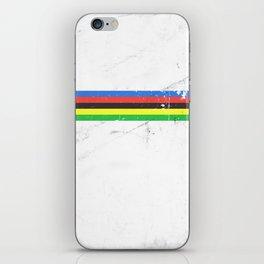 Jersey minimalist cycling iPhone Skin