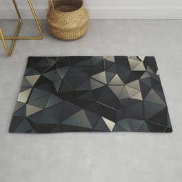 Polygon Noir Rug