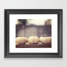 Ghost Pumpkins Framed Art Print