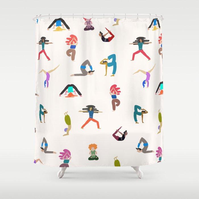 yoga lovers Shower Curtain