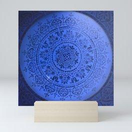 Sapphire Mandala Mini Art Print