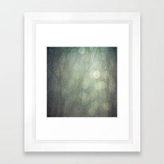 Diamond Rain Bokeh Framed Art Print