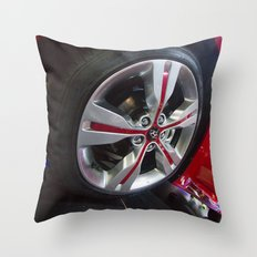 Hyundai Veloster Wheel Throw Pillow