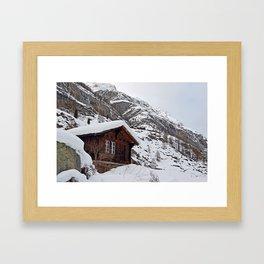 Swiss Mountain House Framed Art Print