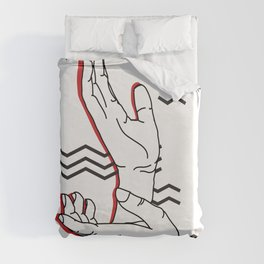 Meanwhile Duvet Cover