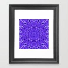 Lovely Healing Mandala  in Brilliant Colors: Purple and Blue Framed Art Print